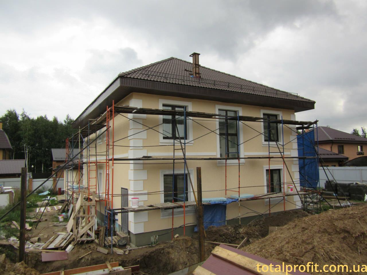 Частный дом из газобетон и фасадный декор