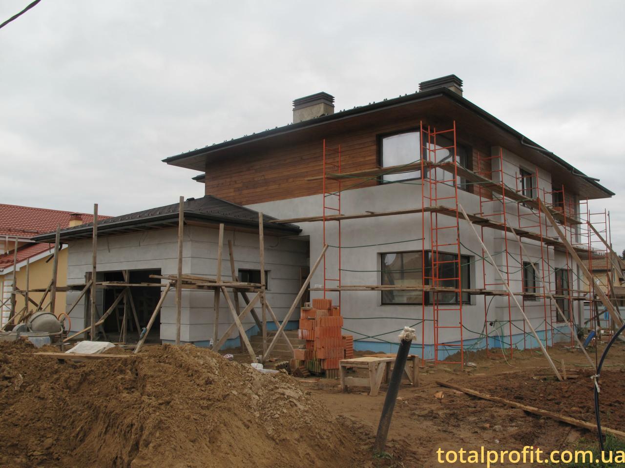 Утепление частного дома комбинированный фасад