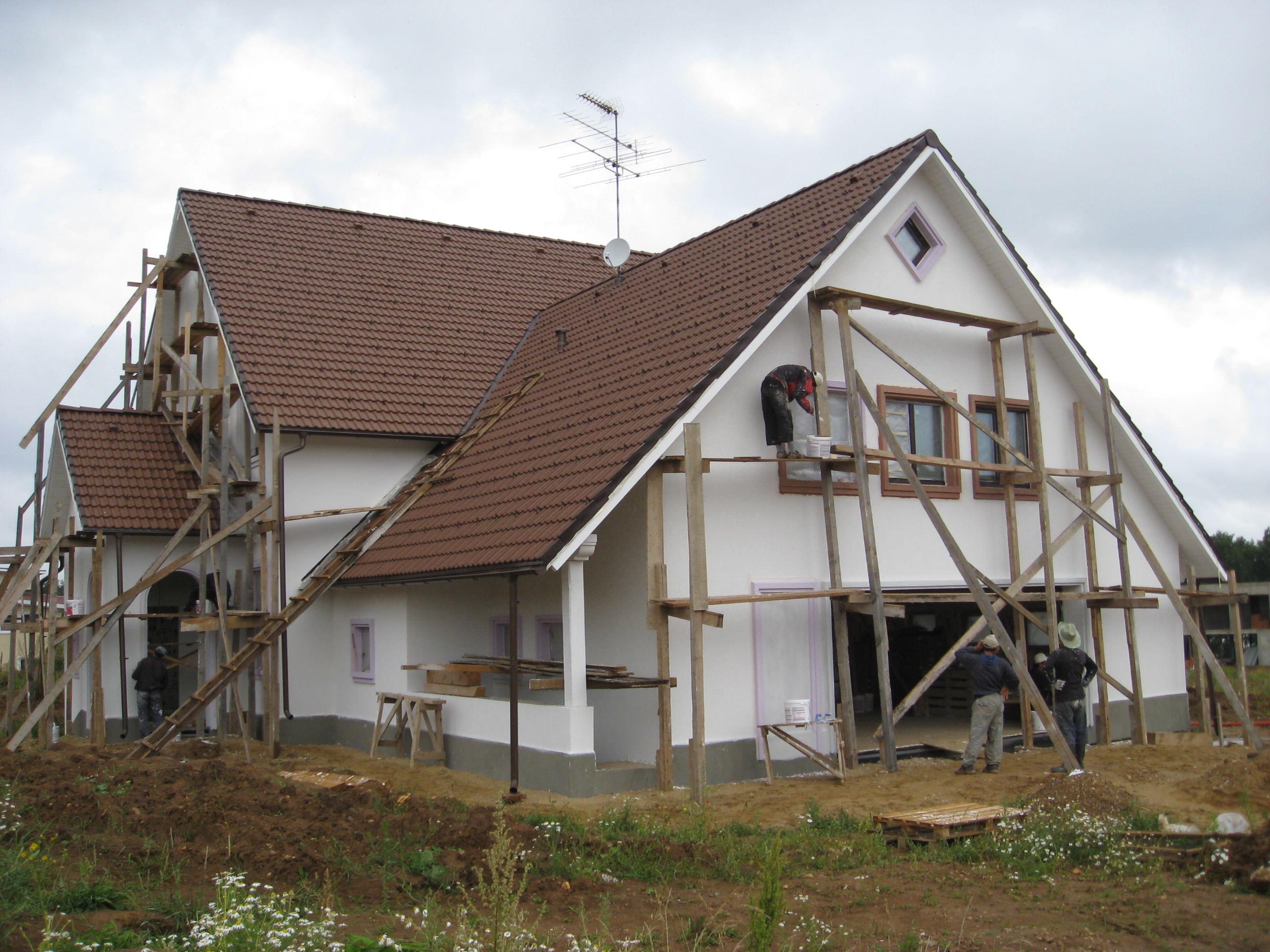 Частный дом с фасадной плиткой