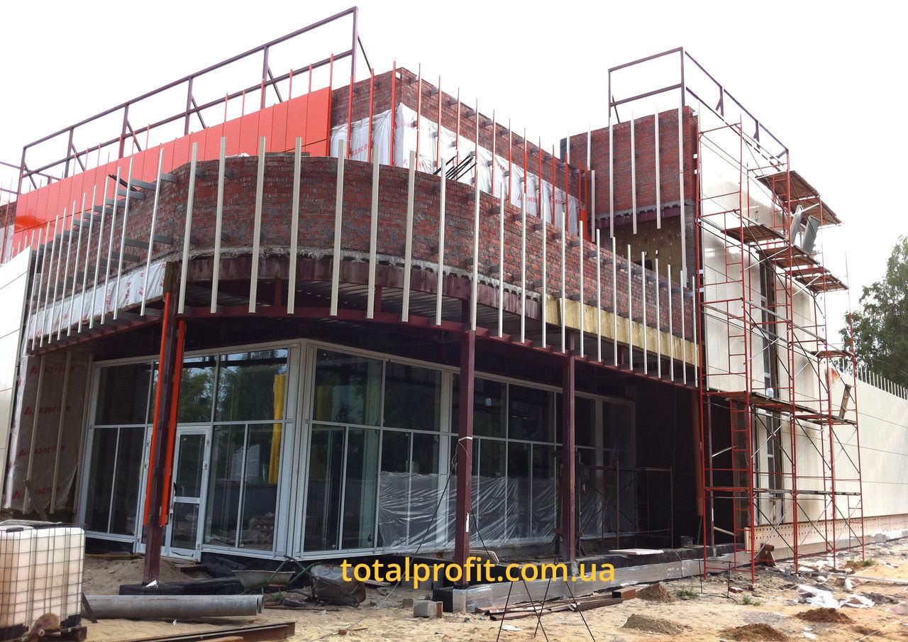 Реконструкция фасада и утепление автосалона